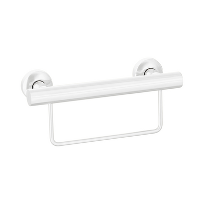 Grab Rail With Towel Rail 300mm White