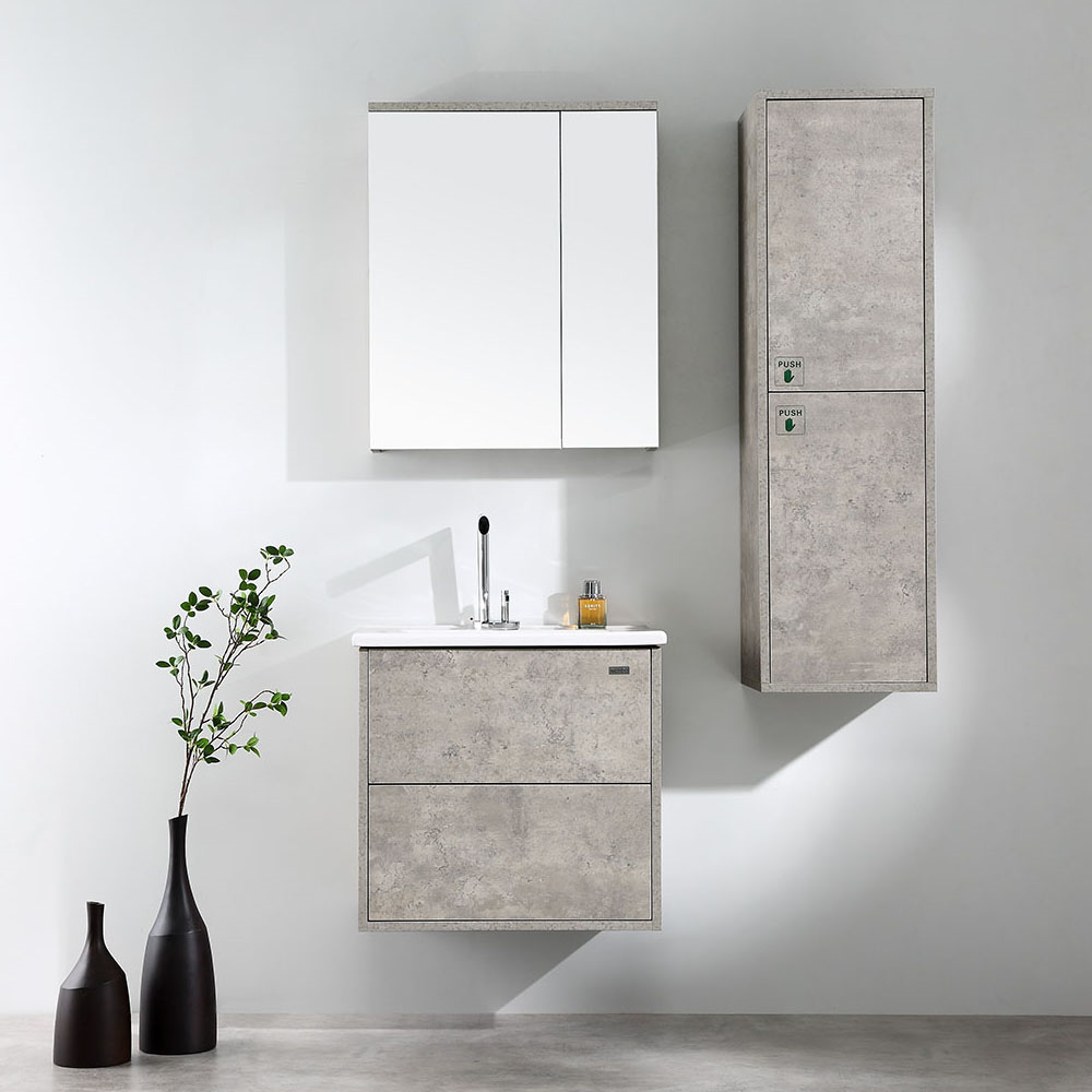 GARGANO Wood Grain Wall Hung Vanity 600mm