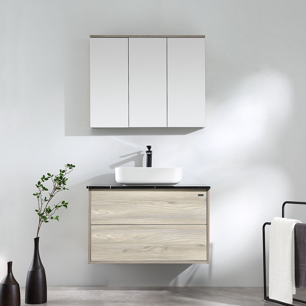 GARGANO Wood Grain Wall Hung Vanity 900mm