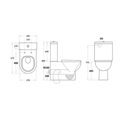 POLA Back to Wall Toilet Suite Specification Drawing
