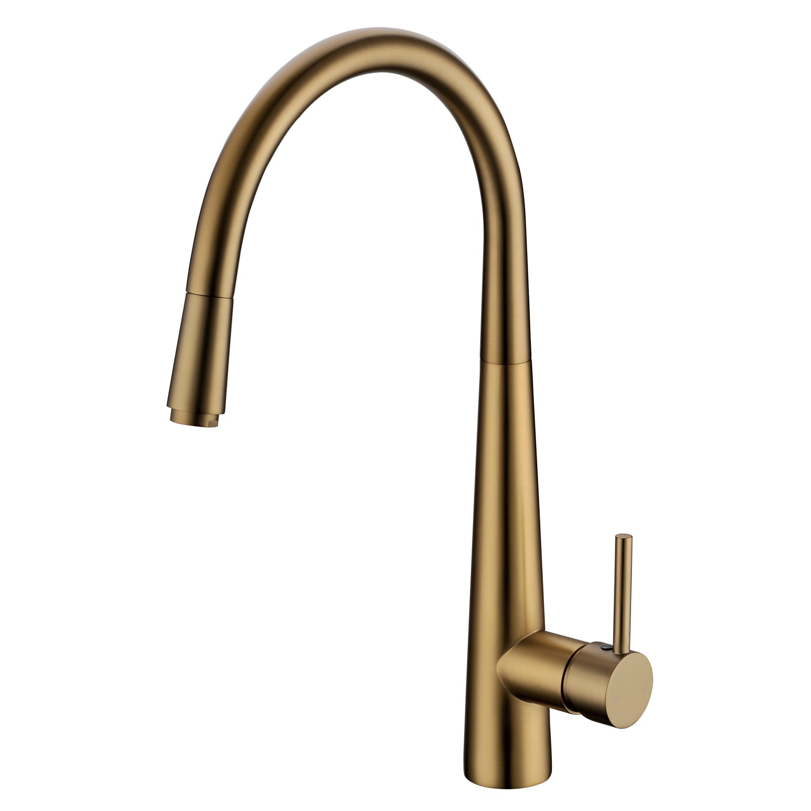 Pentro Brushed Yellow Gold Pull Out Kitchen Mixer