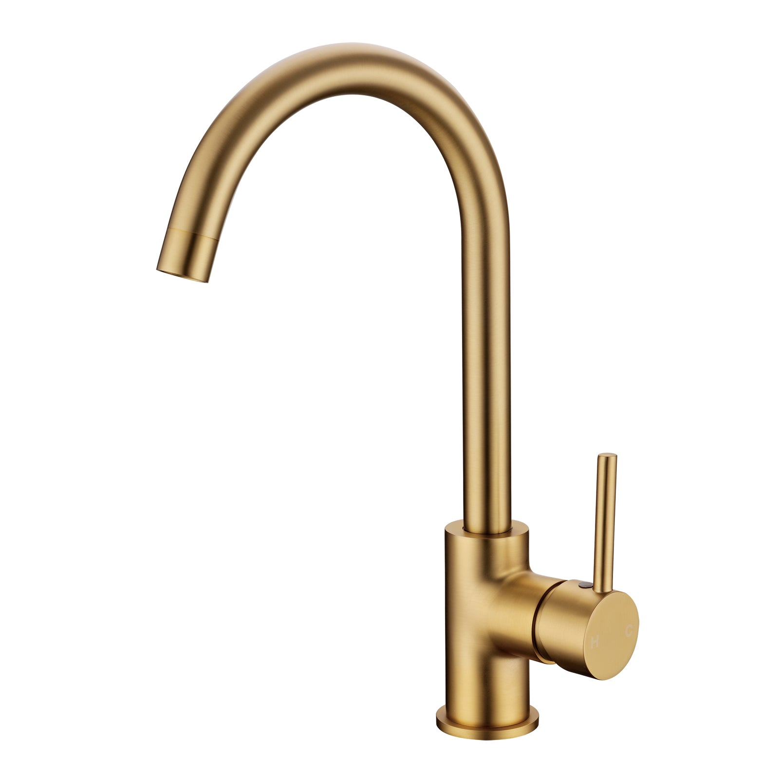 Pentro Brushed Yellow Gold Kitchen Mixer