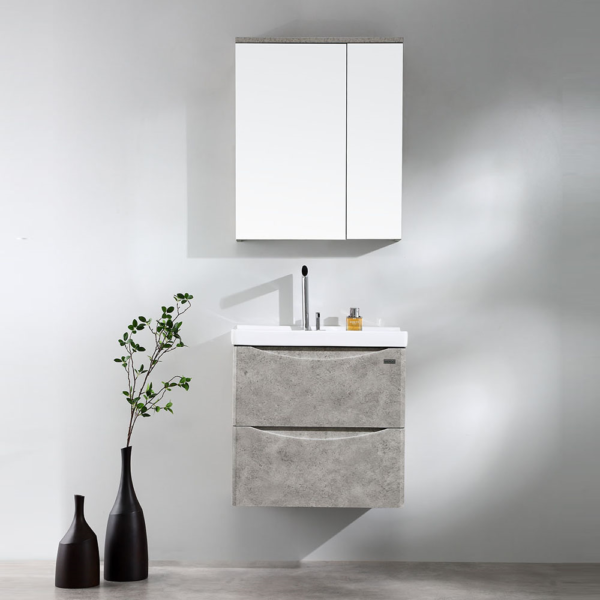 LUNA Wood Grain Wall Hung Vanity 600mm