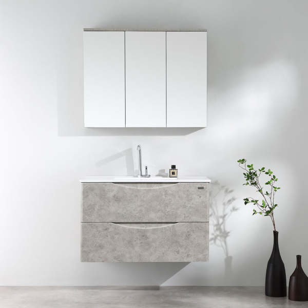 LUNA Wood Grain Wall Hung Vanity 900mm