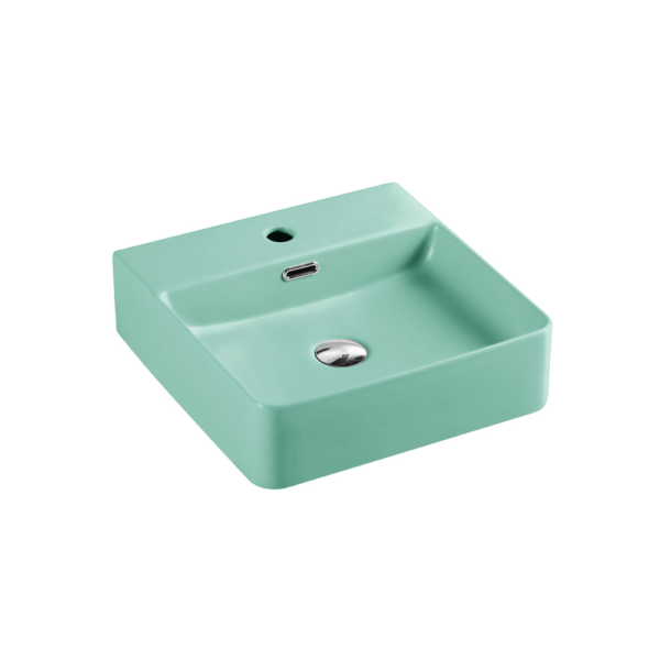 MARSAY Sqaure Wall Hung Basin Antique Green 420mm