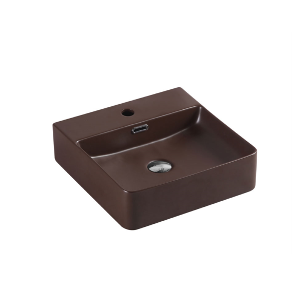 MARSAY Sqaure Wall Hung Basin Cappuccino 420mm