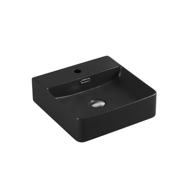 MARSAY Sqaure Wall Hung Basin Matte Black 420mm