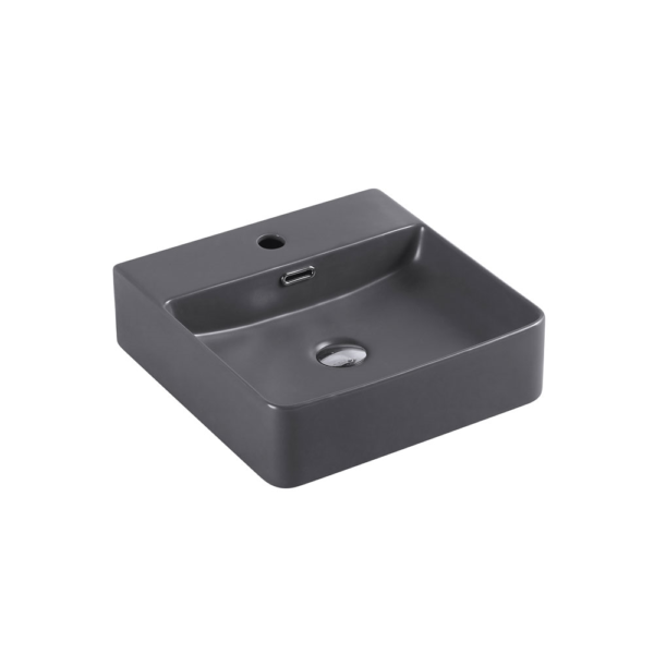 MARSAY Sqaure Wall Hung Basin Nero Grey 420mm
