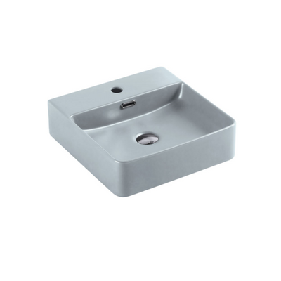 MARSAY Sqaure Wall Hung Basin Tango Grey 420mm