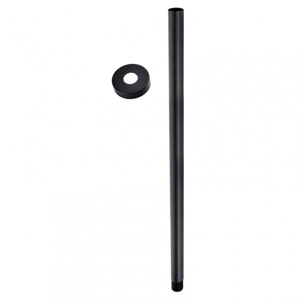 BLAZE Round Black Ceiling Shower Arm 600mm