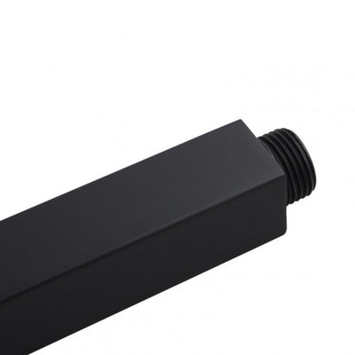 BLAZE Square Black Ceiling Shower Arm 300mm