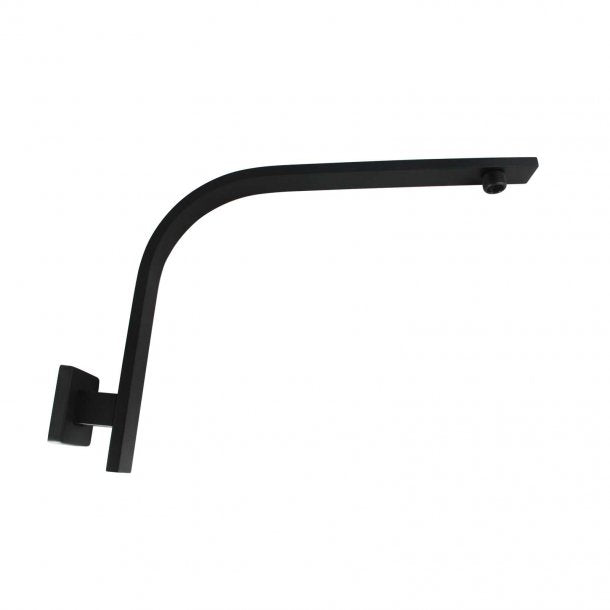 BLAZE Square Black Gooseneck Wall Shower Arm