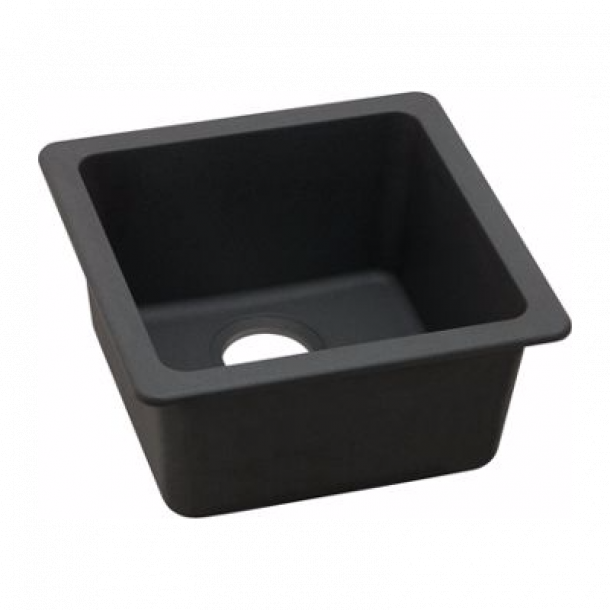 ARETE Black Granite Quartz Stone Sink 422mm