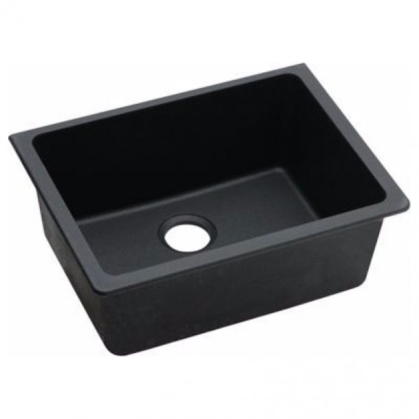 ARETE Black Granite Quartz Kitchen Sink 635x469mm