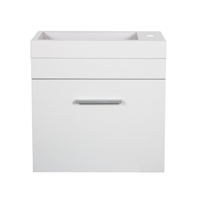 White Slimline Wall Hung Vanity 500mm