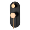 Inspire Bathware ROUL Shower/Wall Mixer with Diverter Matte Black and Rose Gold