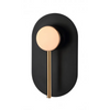 Inspire Bathware ROUL Shower/Wall Mixer Matte Black and Rose Gold