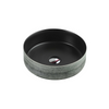 SASSO Round Counter Top Basin Touchline Black 350mm