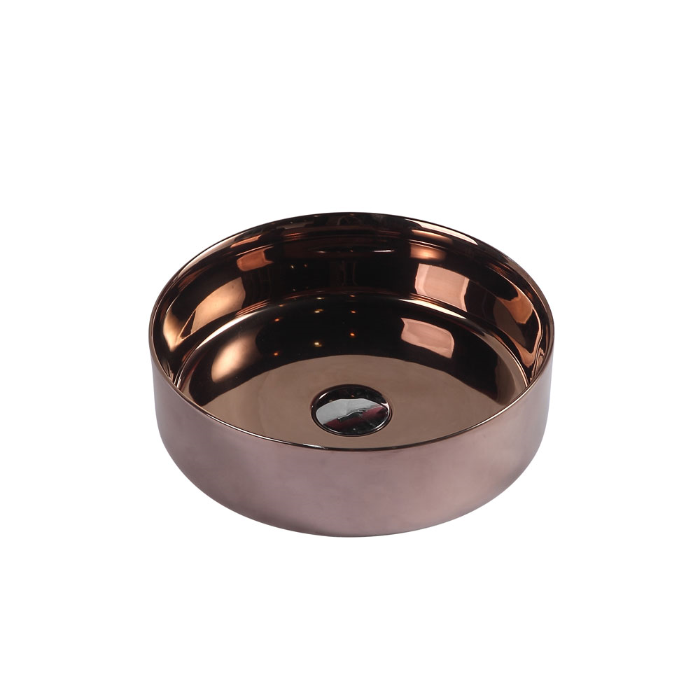 SASSO Round Counter Top Basin Posh Gold 350mm