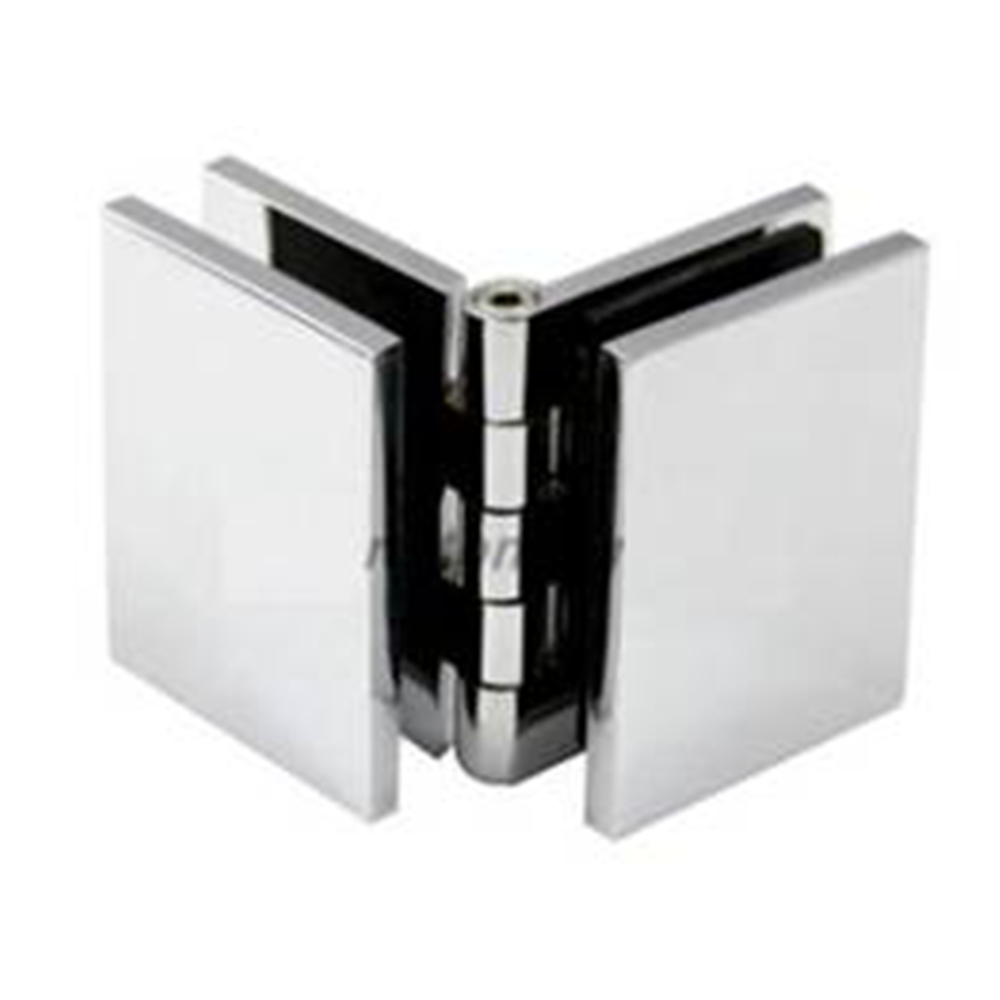 Shower Screen Bracket - Glass to Glass Adjustable