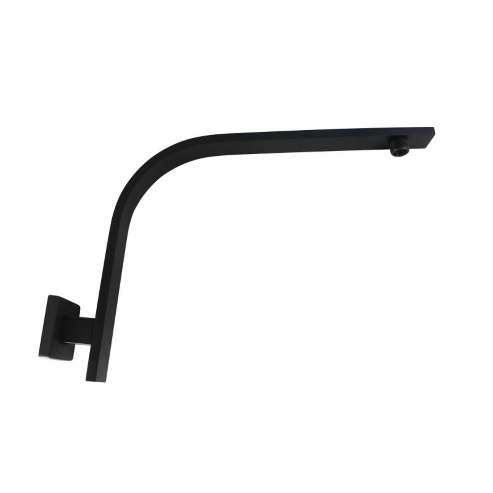 Cavallo Matte Black Gooseneck Wall Mounted Shower Arm