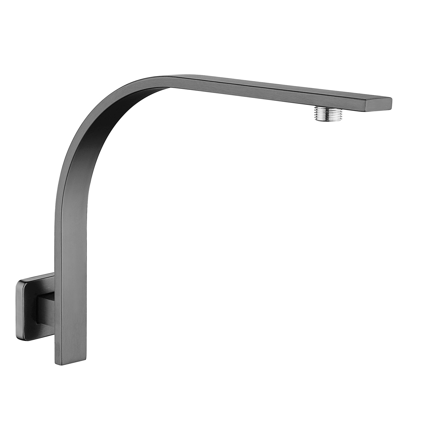 Cavallo Gun Metal Grey Gooseneck Wall Mounted Shower Arm