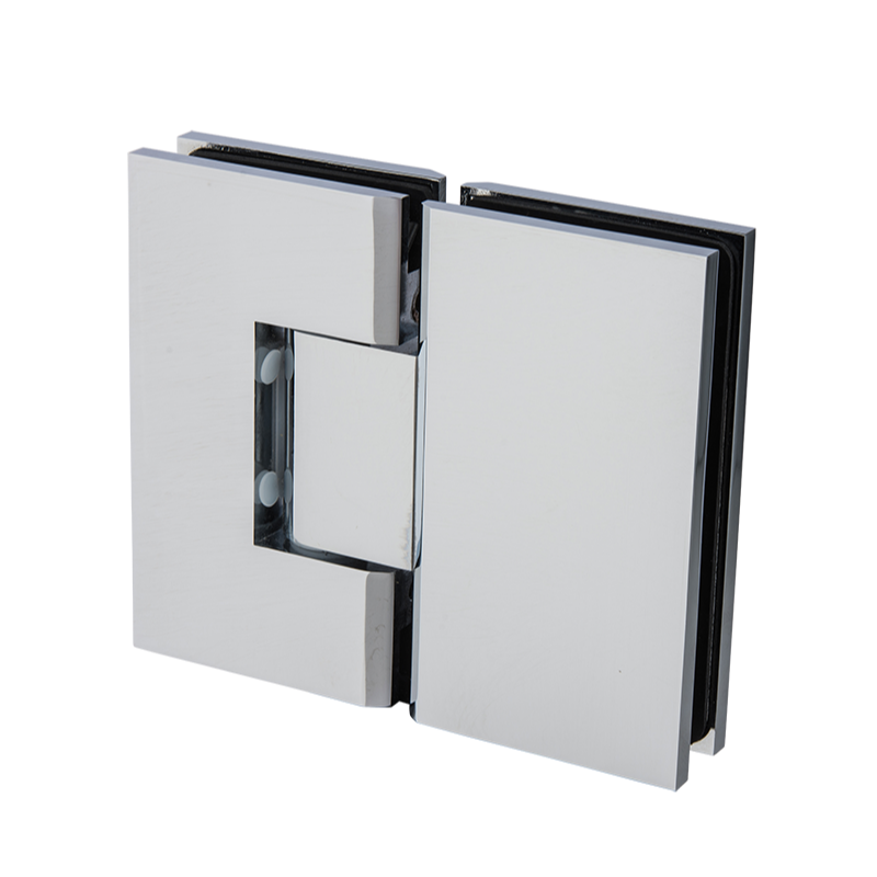 Shower Screen Hinge - 180° Glass to Glass Mirror