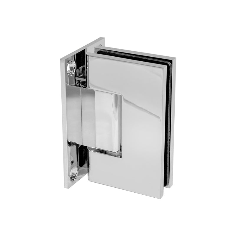 Shower Screen Hinge - 90° Glass to Wall T Shape