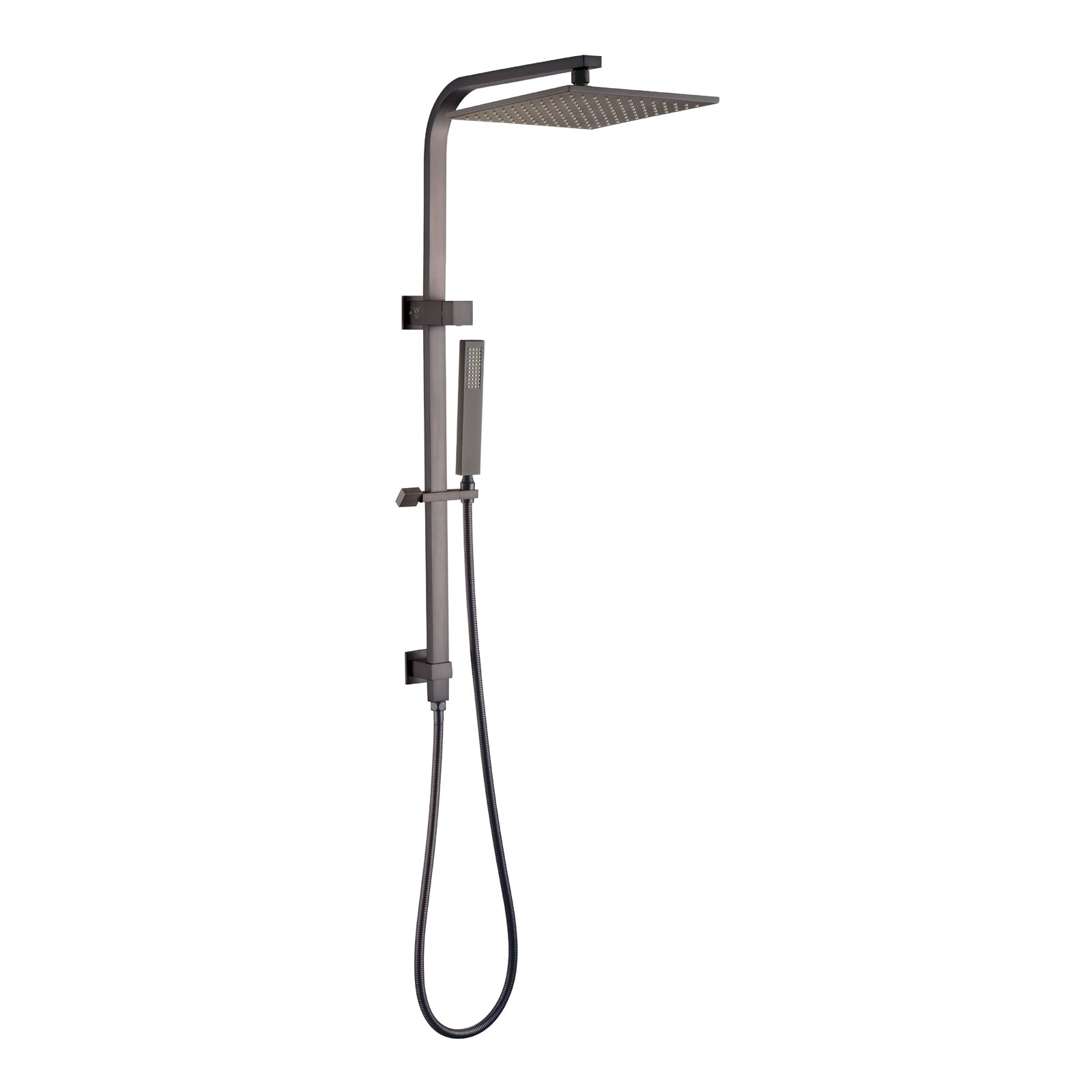 Norico Esperia 250mm Gun Metal Grey Square Shower Station
