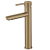 Norico Pentro Brushed Yellow Gold Round Tall Basin Mixer