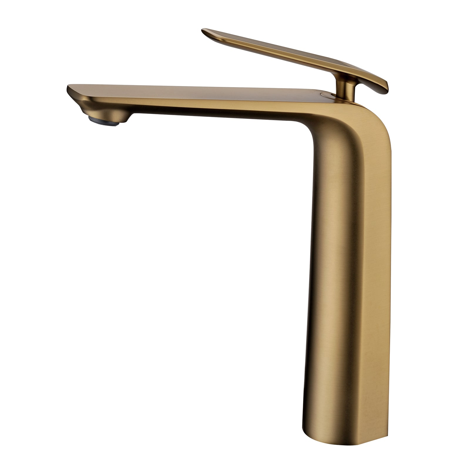 Esperia Brushed Yellow Gold Tall Basin Mixer