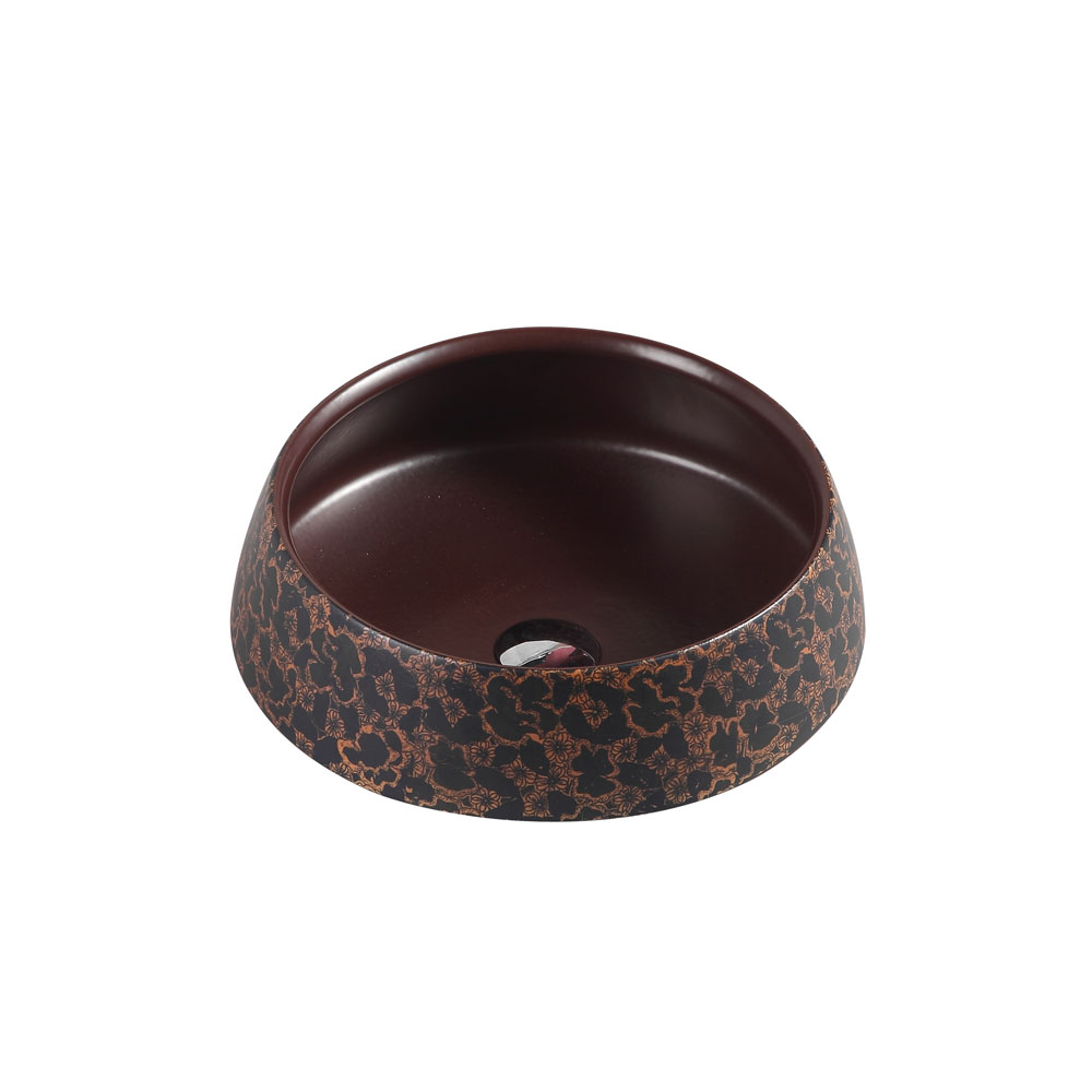 TRIER Round Counter Top Basin Art Bronze 410mm
