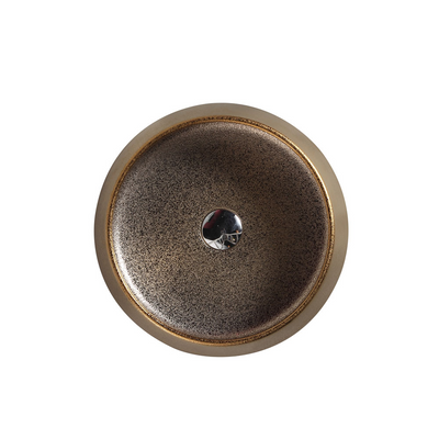 TRIER Round Counter Top Basin Art Gold 410mm