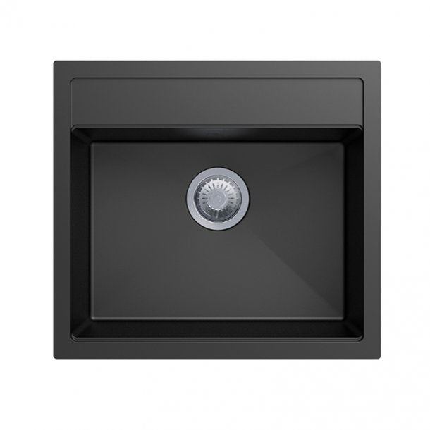 CARYSIL WALTZ Black Granite Kitchen Sink 560x510mm