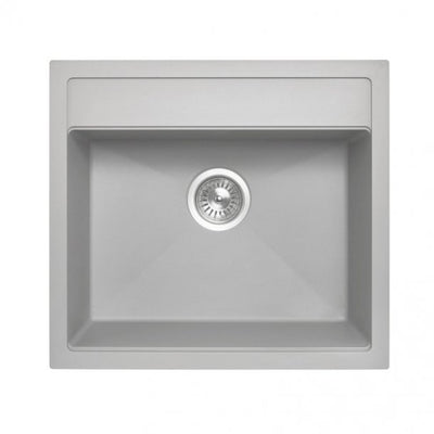 CARYSIL WALTZ Grey Granite Kitchen Sink 560x510mm