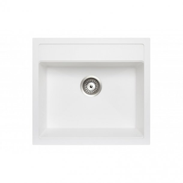 CARYSIL WALTZ White Granite Kitchen Sink 560x510mm