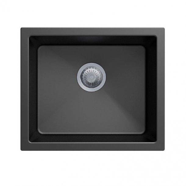 CARYSIL SALSA Black Granite Kitchen Sink 533x457mm