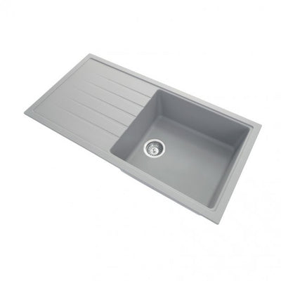 CARYSIL VIVALDI Grey Granite Kitchen Sink with Drainboard 1000x500mm