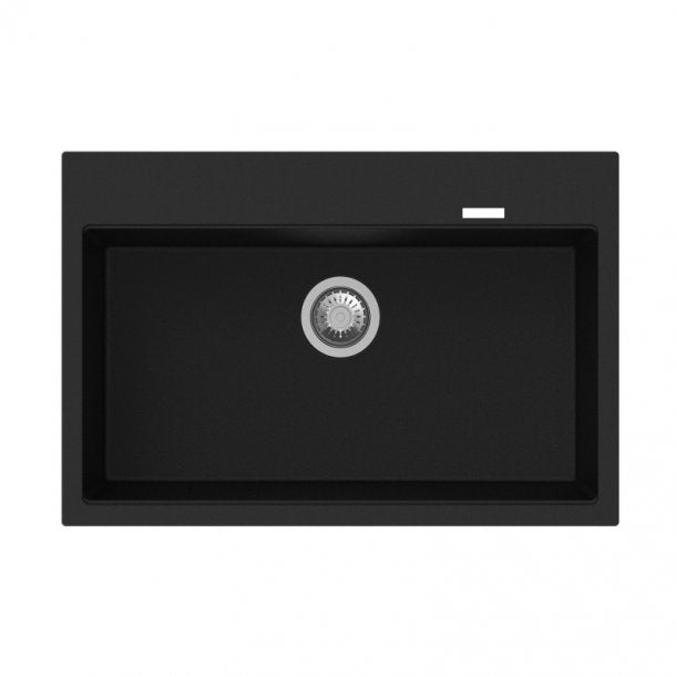 CARYSIL WALTZ Black Granite Kitchen Sink 780x510mm