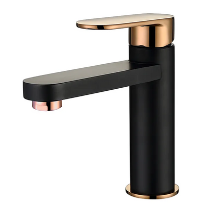 Inspire Bathware VETTO Basin Mixer Matte Black and Rose Gold