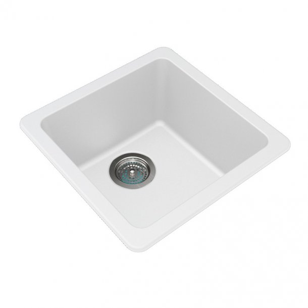 ARETE White Granite Quartz Stone Sink 422mm