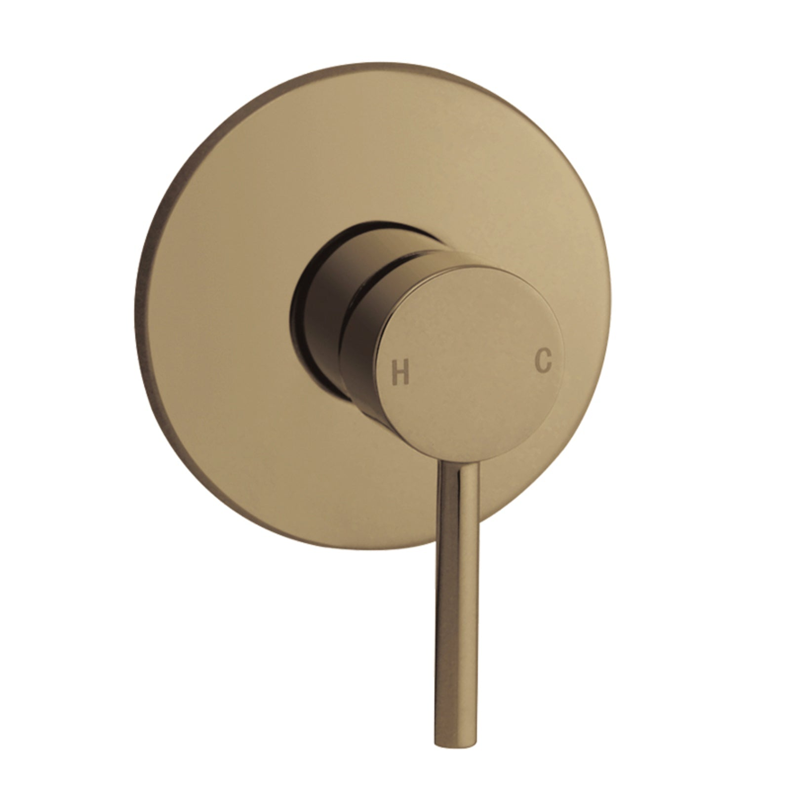 Norico Pentro Brushed Yellow Gold Round Shower Mixer Tap