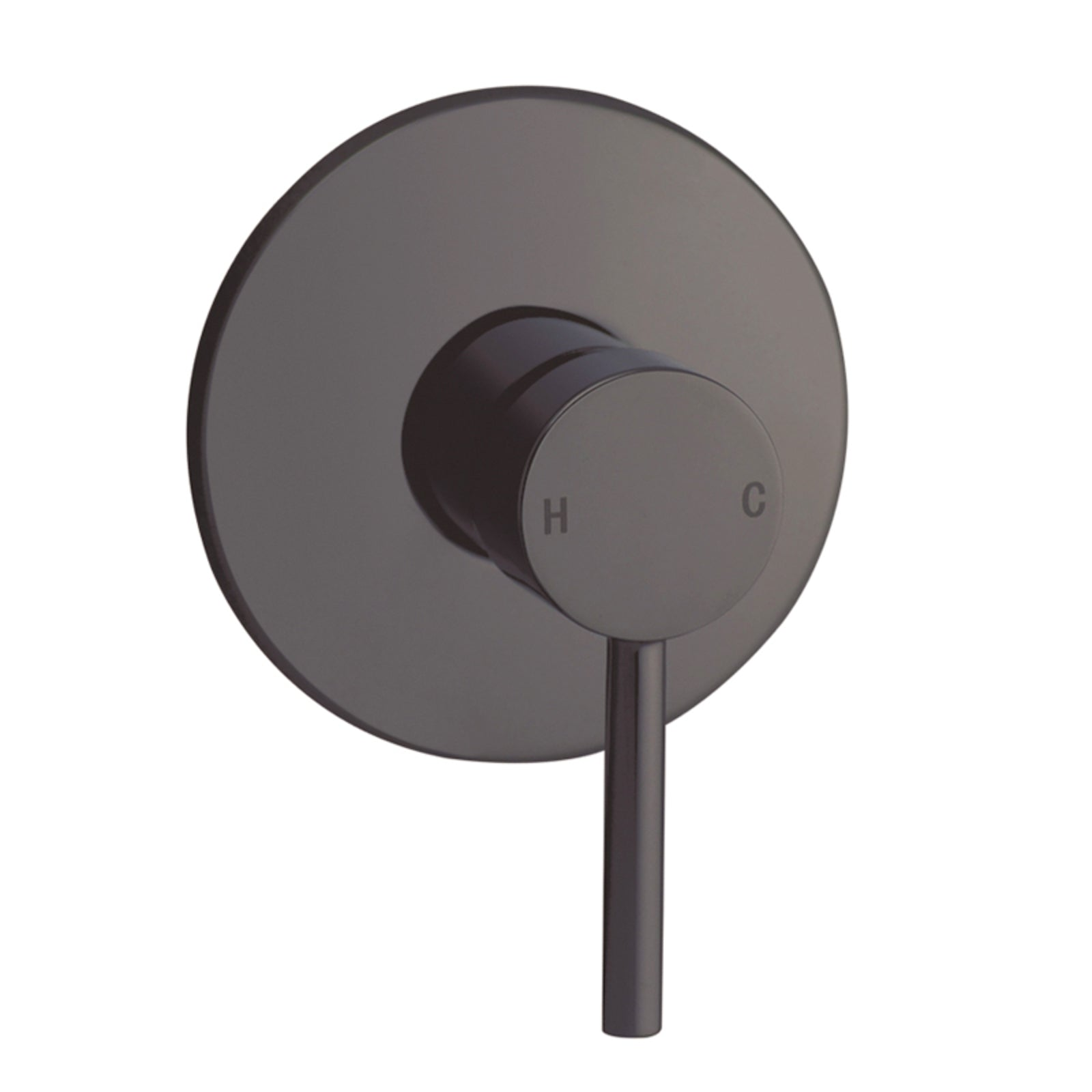 Norico Pentro Gun Metal Grey Round Shower Mixer Tap