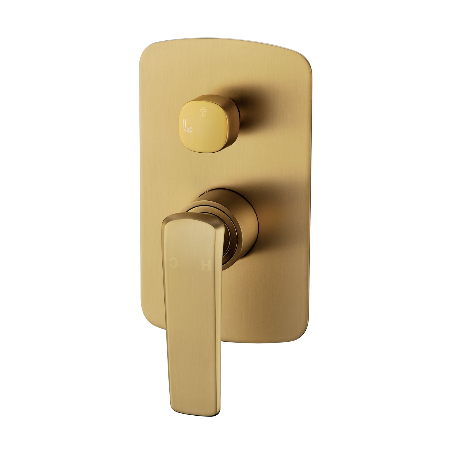Esperia Brushed Yellow Gold Wall Mixer with Diverter