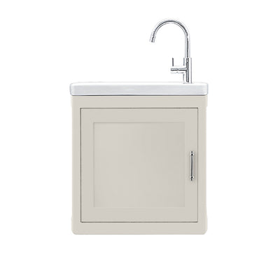 BURNLEY 500x260 Room Basin & Vanity Unit White Matte