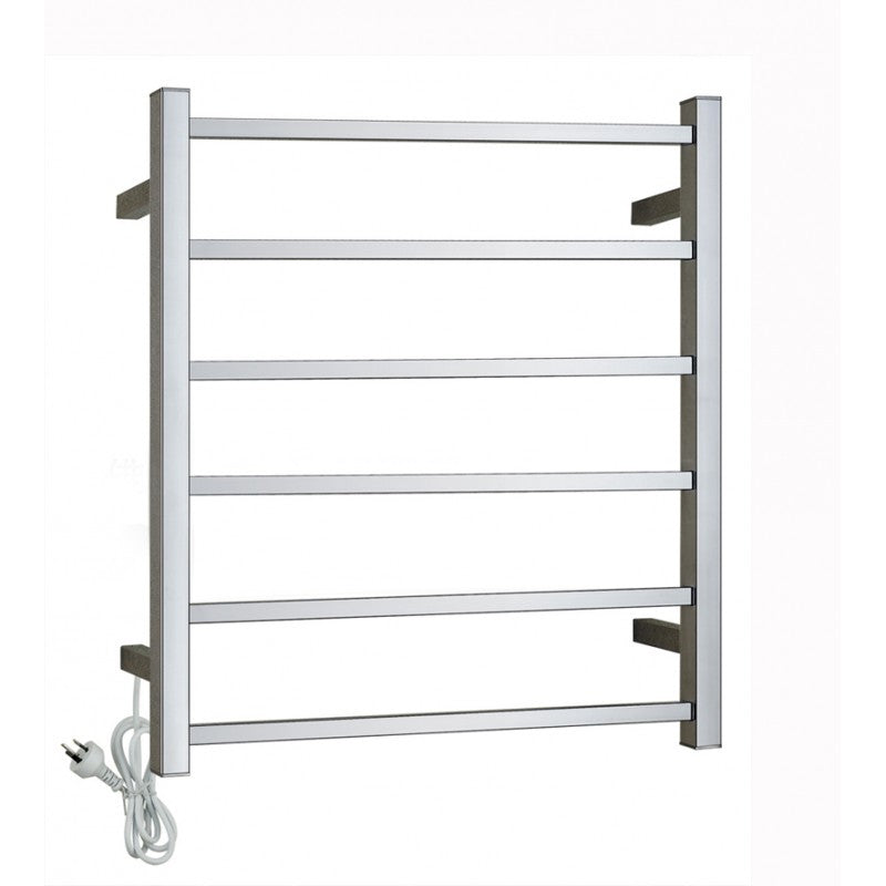 6 Bar Heated Towel Rail Chrome