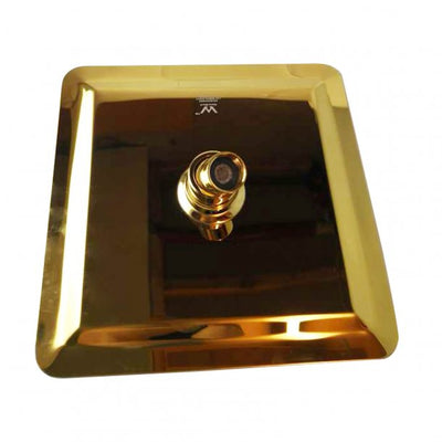 Yellow Gold Square Rainfall Shower Head 200mm