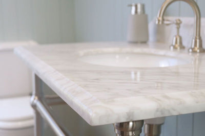 Mayer Washstand With 90 x 55 Real Carrara Marble Top