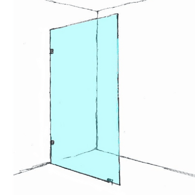 Frameless Shower Screen Return Panel 600-1200x2000mm