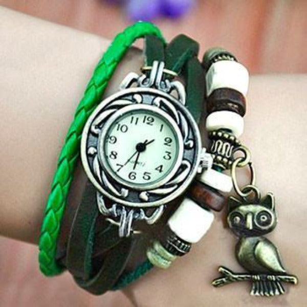 Owl Vintage Wrap Watch - Ashley Jewels - 1
